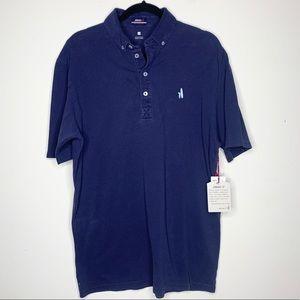 NWT Johnnie-O Redondo Pique Polo Shirt Navy